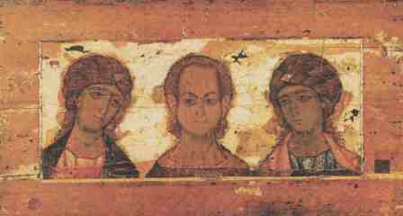 Спас Еммануил с Ангелами. Конец XII в. ГТГ, Москва
