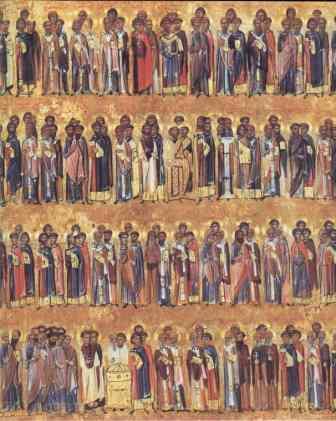 Икона Минея избранные святые