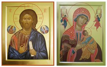 иконы Спасителя и Богоматери