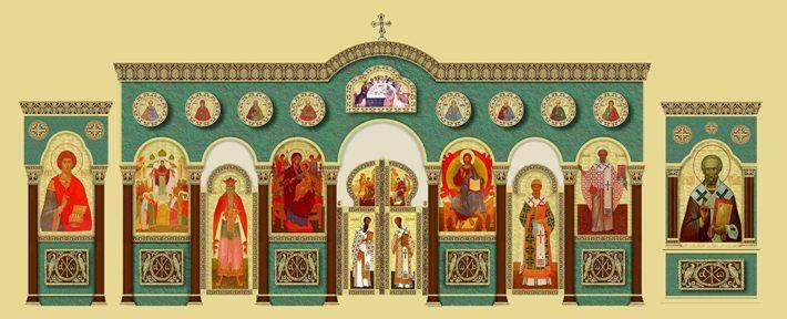 Проект нижнего иконостаса храма, г Братск , Иркутская область